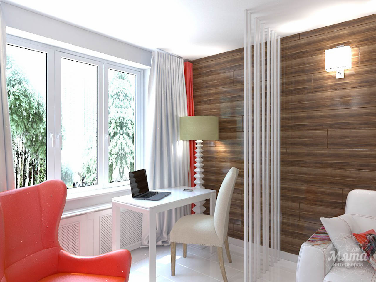 Дизайн интерьера однокомнатной квартиры в стиле минимализм по ул. Чапаева 30 img2118647351