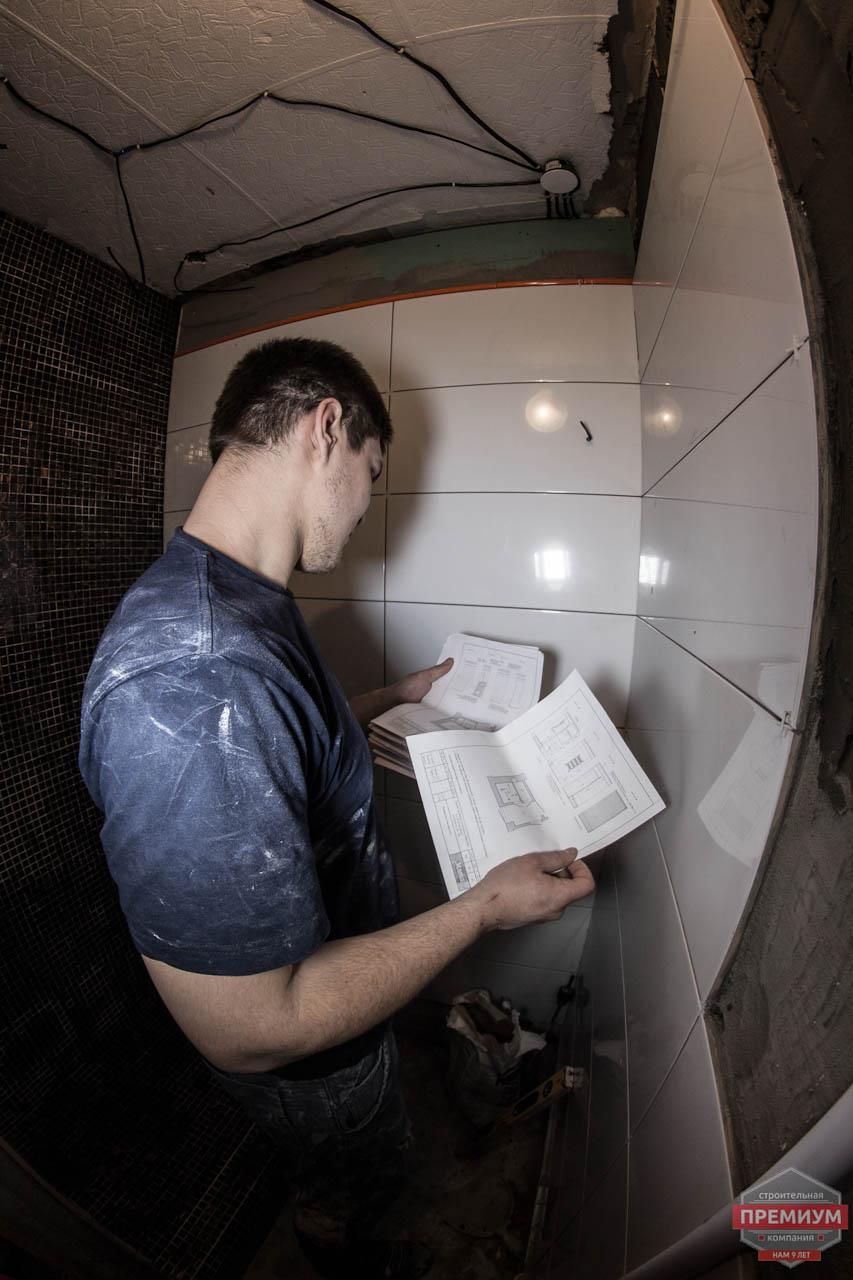 Дизайн интерьера и ремонт ванной комнаты и прихожей по ул. Крауля 70 4