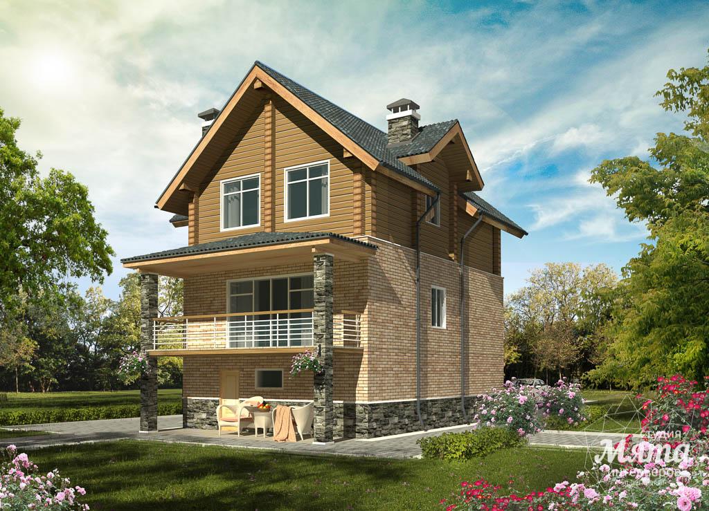 Дизайн фасада коттеджа 200м2 в КП Палникс 3