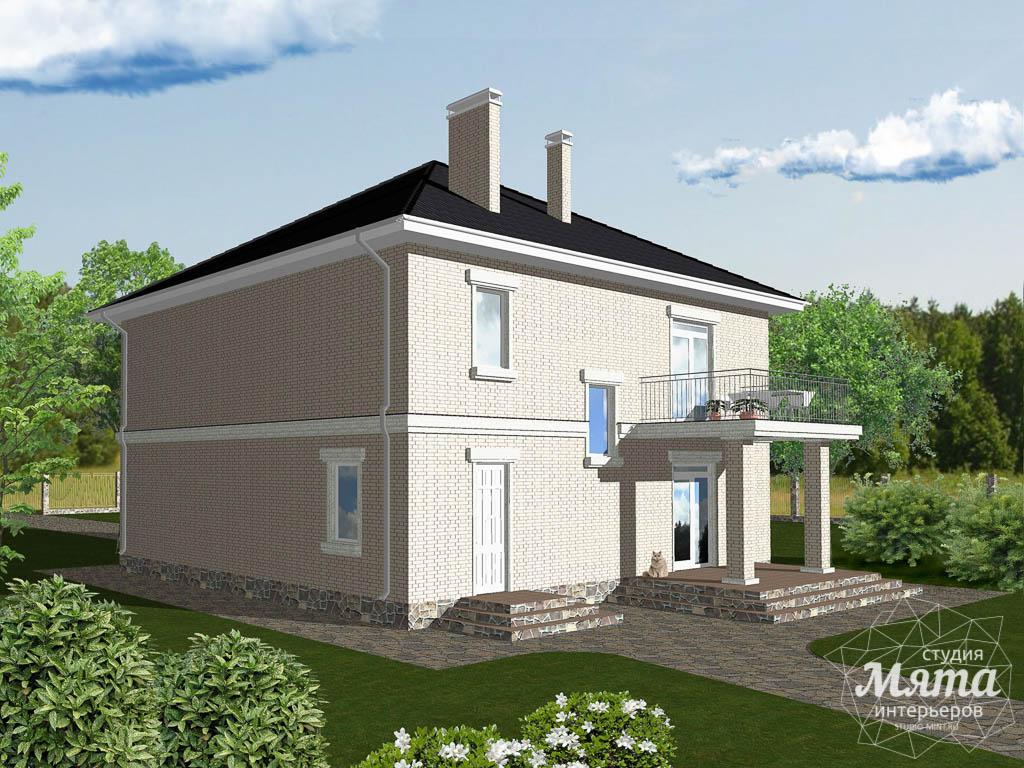 Дизайн проект фасада дома 200 м2 2