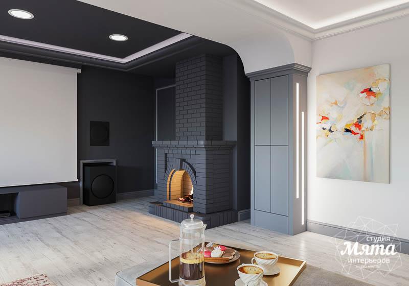 Дизайн интерьера домашнего кинотеатра в коттедже п. Кашино img1196187911