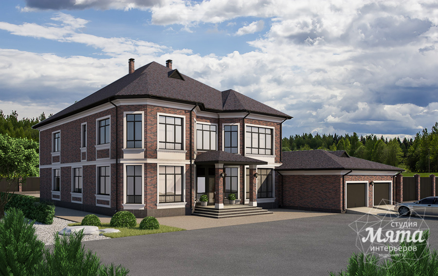 Дизайн фасада дома, бани, гостевого дома и проект участка в Москве img1195952293