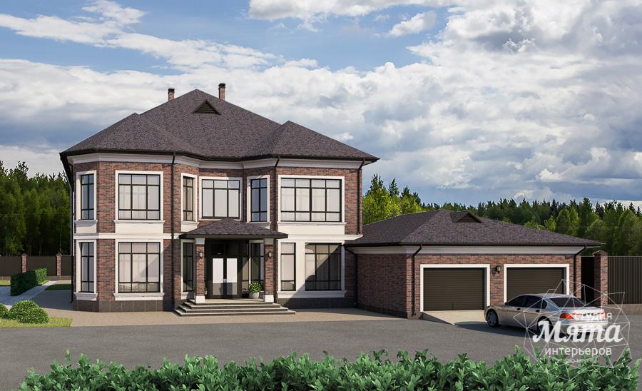 Дизайн фасада дома, бани, гостевого дома и проект участка в Москве img45599886