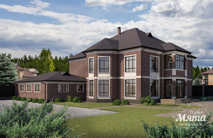 Дизайн фасада дома, бани, гостевого дома и проект участка в Москве img1055939440