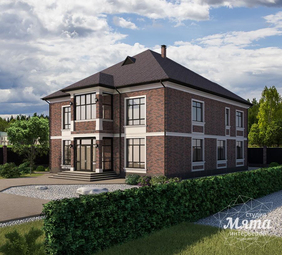 Дизайн фасада дома, бани, гостевого дома и проект участка в Москве img313376096