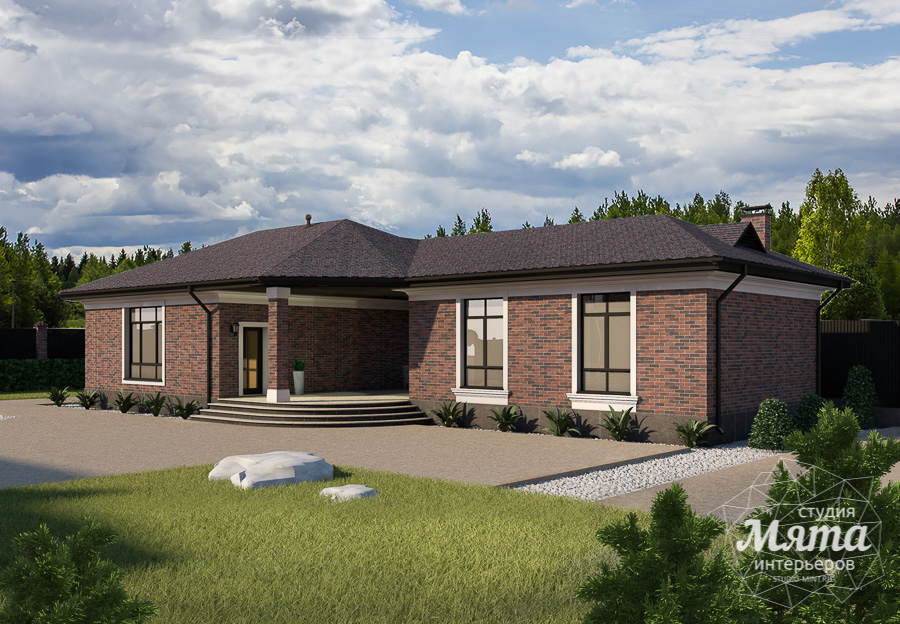 Дизайн фасада дома, бани, гостевого дома и проект участка в Москве img1033709063