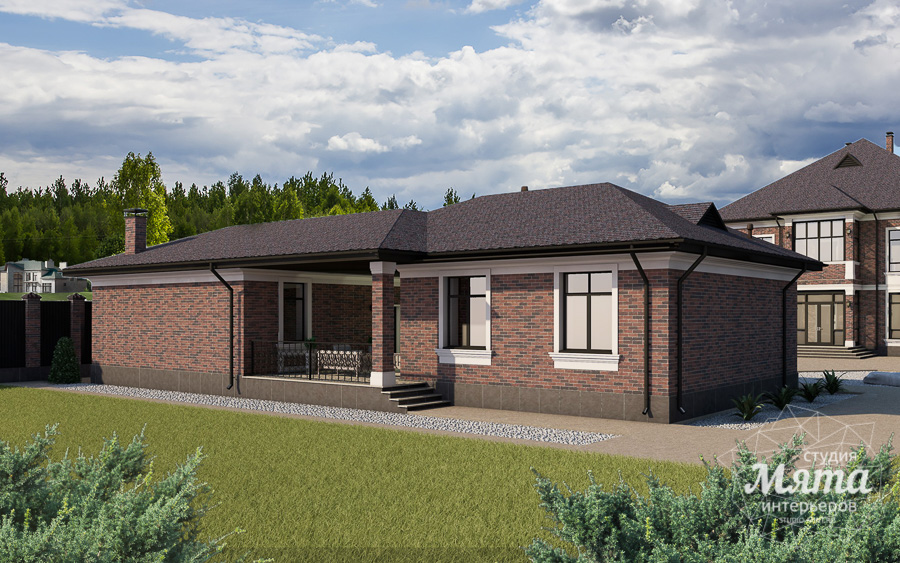 Дизайн фасада дома, бани, гостевого дома и проект участка в Москве img798734985