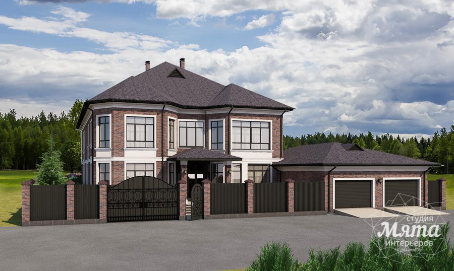 Дизайн фасада дома, бани, гостевого дома и проект участка в Москве img76216522