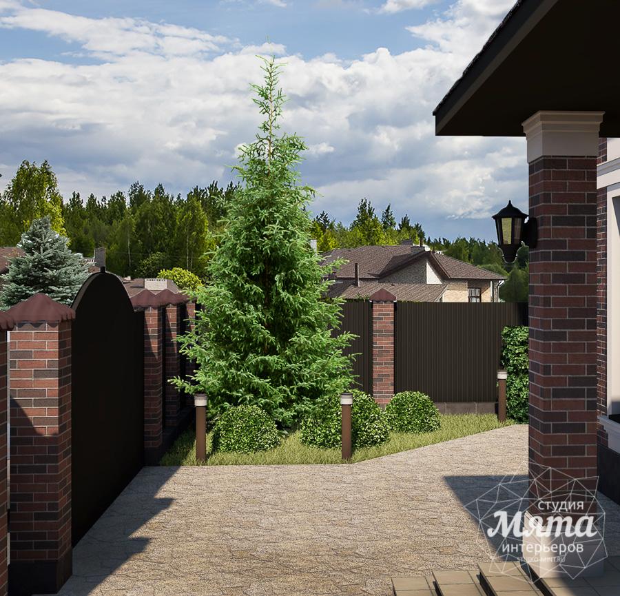 Дизайн фасада дома, бани, гостевого дома и проект участка в Москве img232977638
