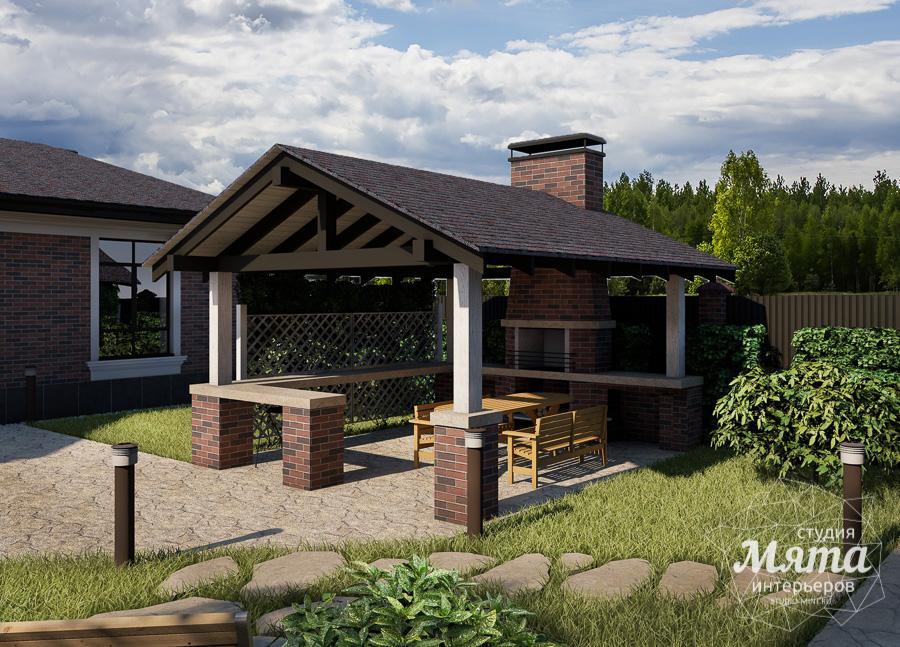 Дизайн фасада дома, бани, гостевого дома и проект участка в Москве img1738224978