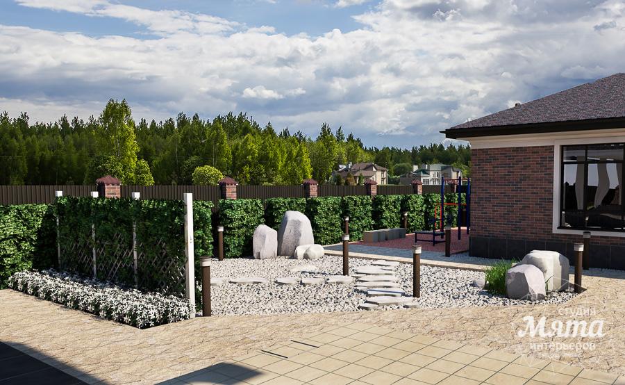 Дизайн фасада дома, бани, гостевого дома и проект участка в Москве img1332602324