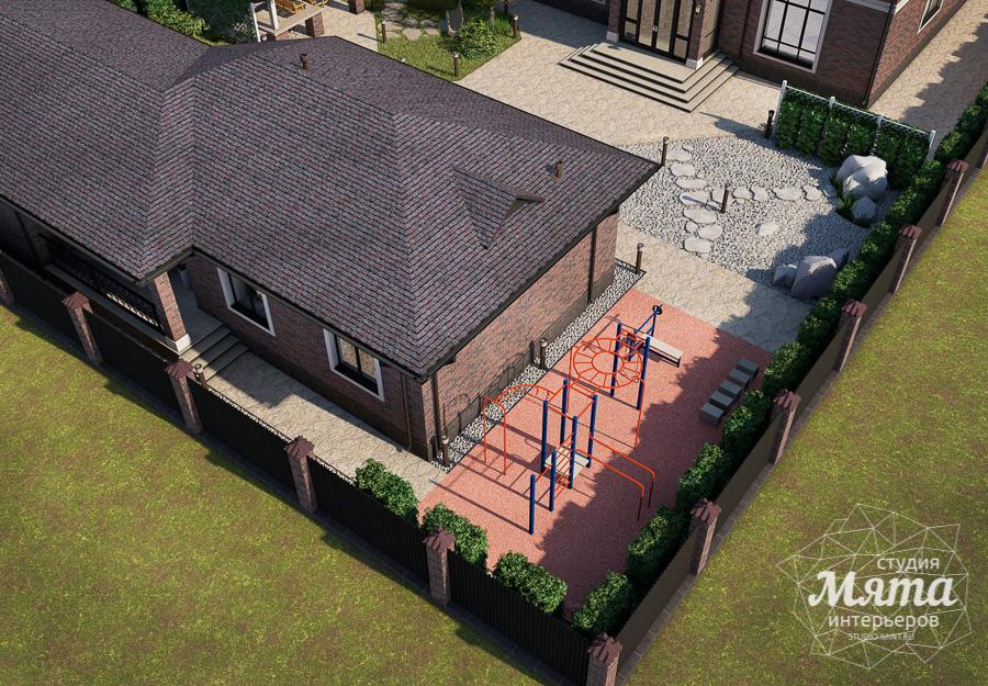 Дизайн фасада дома, бани, гостевого дома и проект участка в Москве img22330980