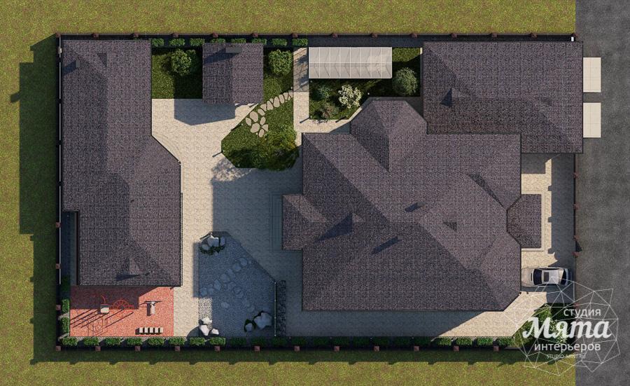 Дизайн фасада дома, бани, гостевого дома и проект участка в Москве img119054369