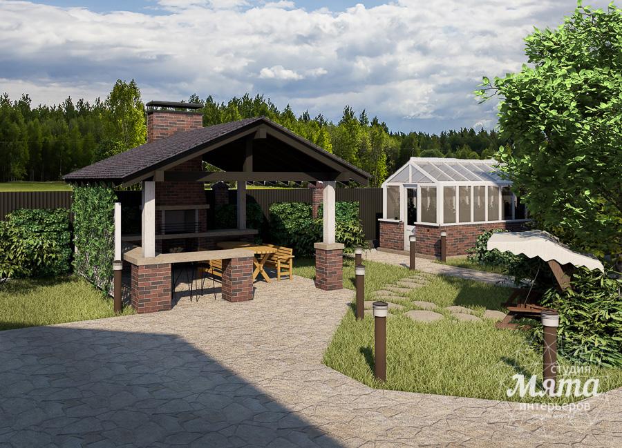 Дизайн фасада дома, бани, гостевого дома и проект участка в Москве img231081417