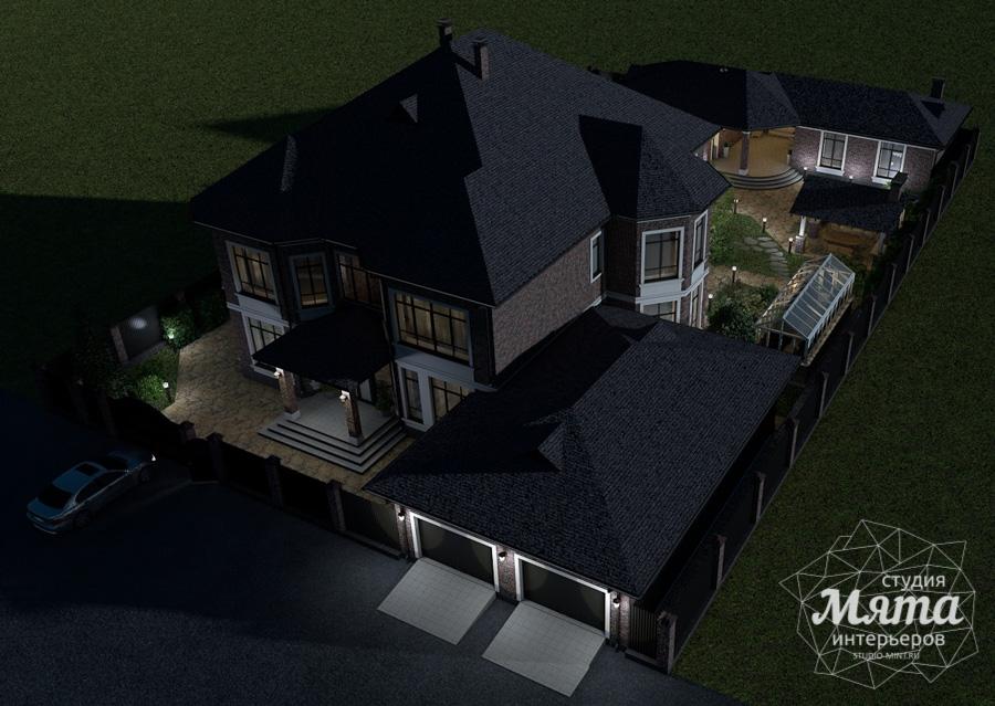 Дизайн фасада дома, бани, гостевого дома и проект участка в Москве img1598925477