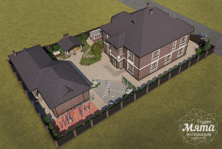 Дизайн фасада дома, бани, гостевого дома и проект участка в Москве img2101121770