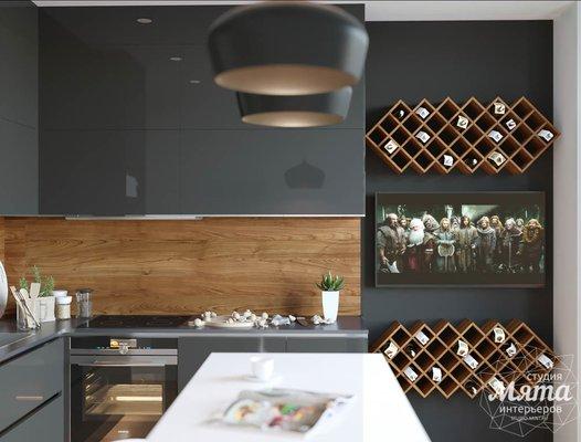 Дизайн интерьера однокомнатной квартиры в ЖК Чемпион Парк