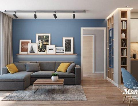Дизайн интерьера двухкомнатной квартиры в ЖК Солнечный